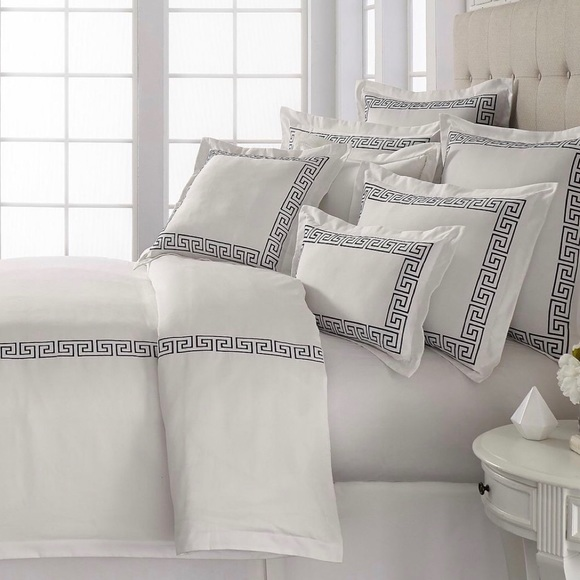 Southern Living Other - NWT Set of 2 Southern Living Greek Key Euro shams